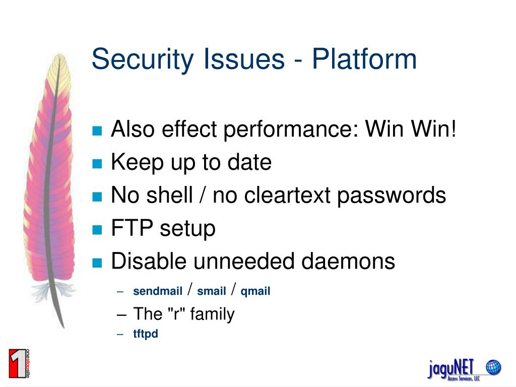 Security Issues - Platform