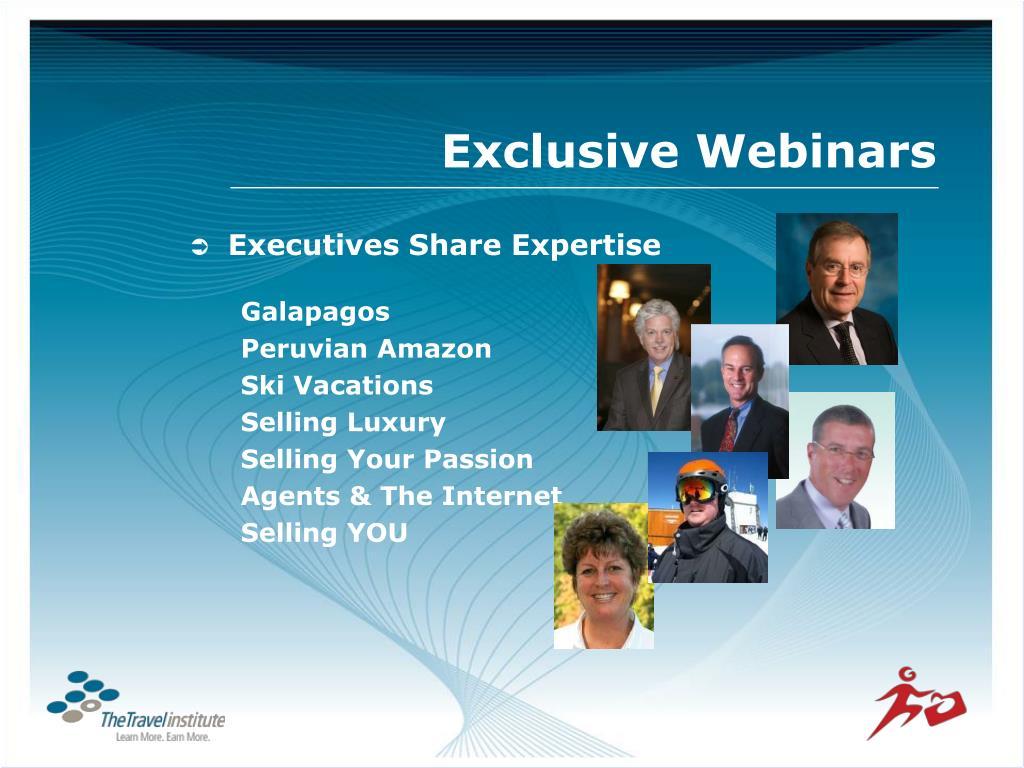Exclusive Webinars
