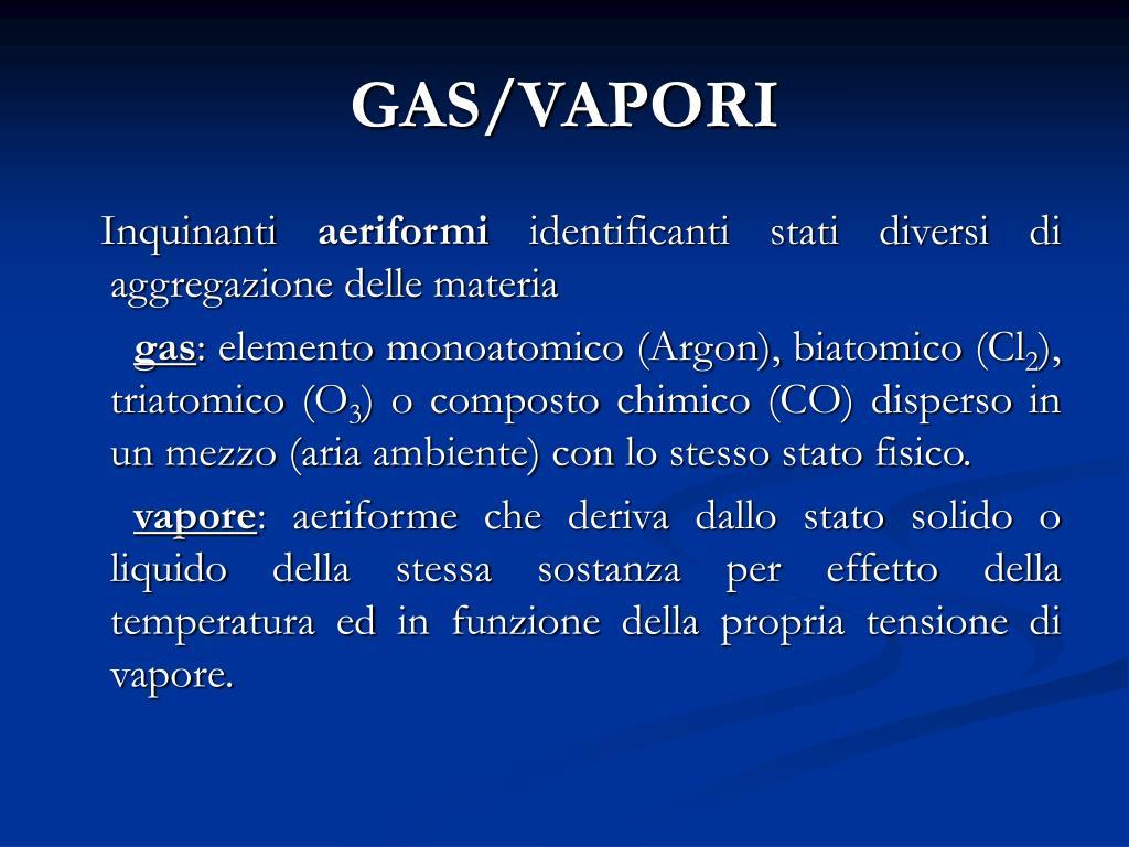 GAS/VAPORI