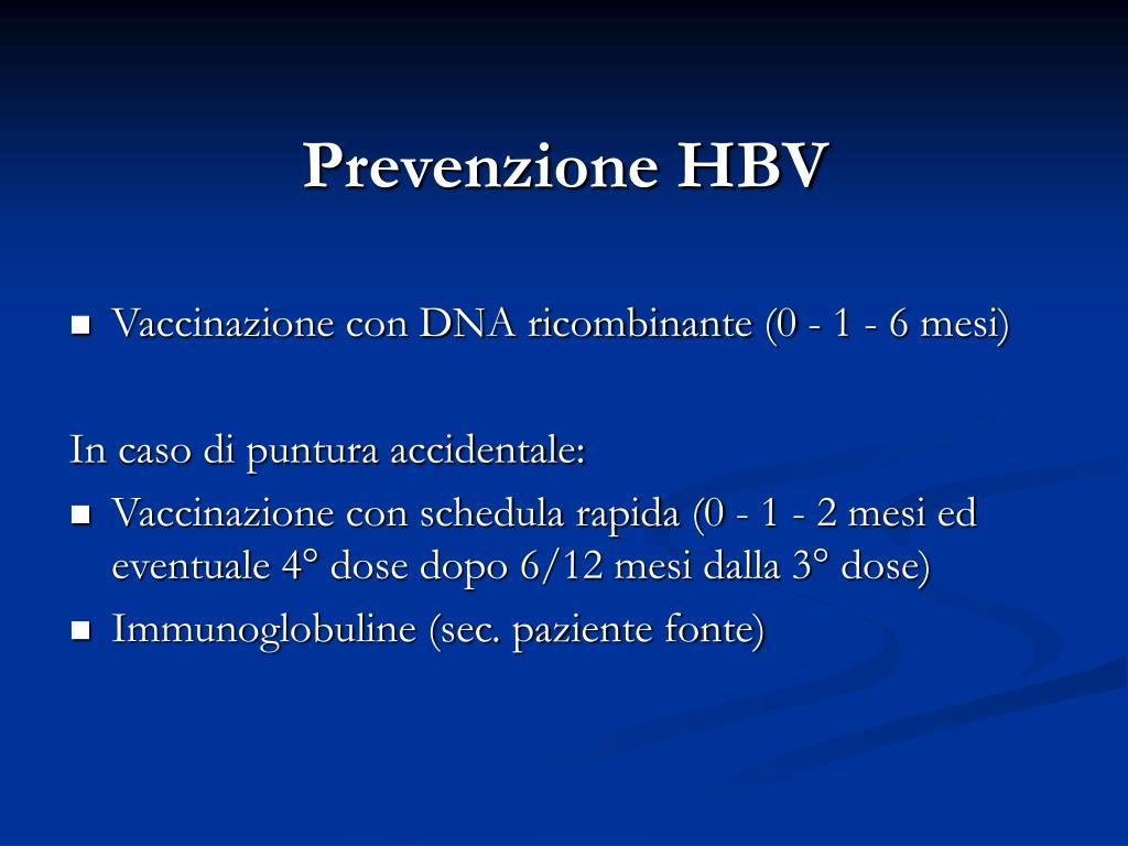 Prevenzione HBV