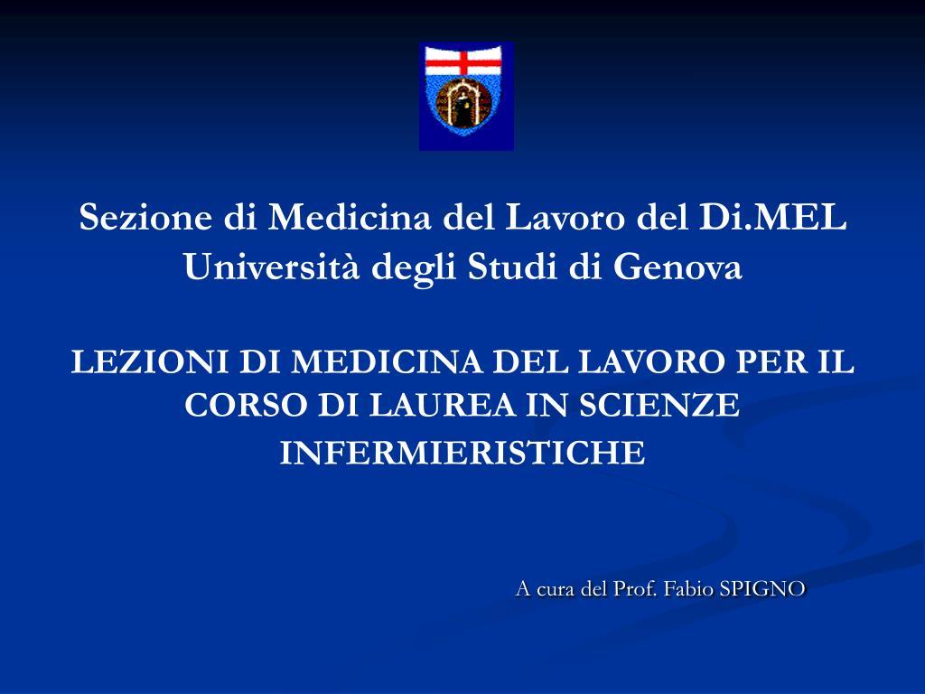 Sezione di Medicina del Lavoro del Di.MEL
