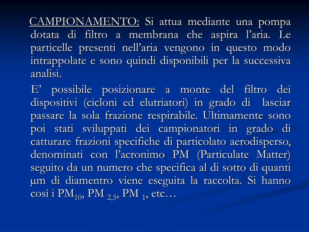 CAMPIONAMENTO: