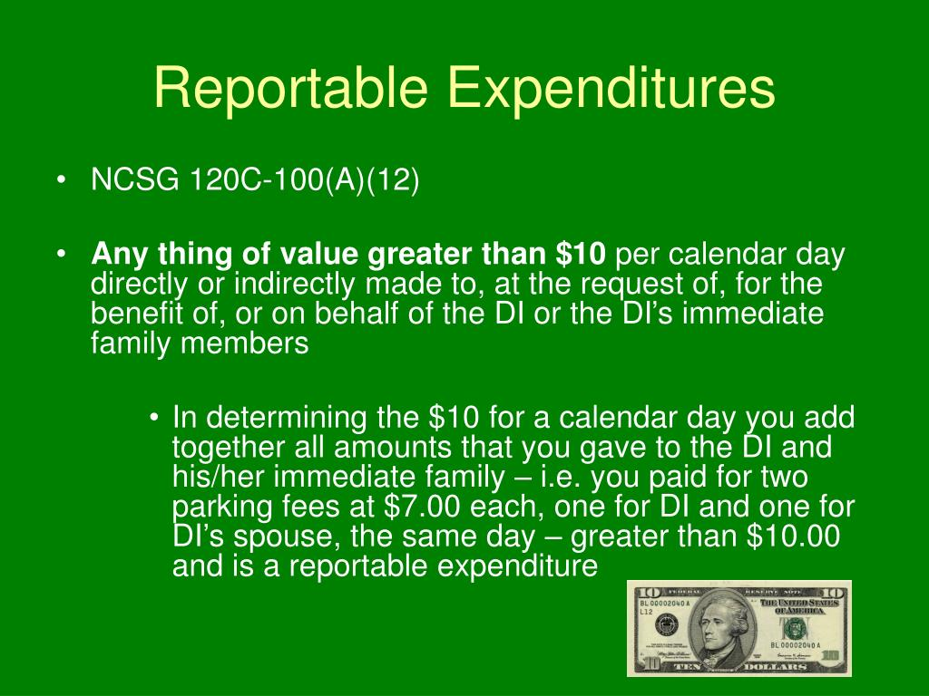 Reportable Expenditures