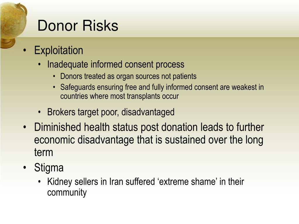 Donor Risks