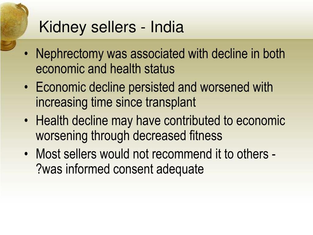 Kidney sellers - India