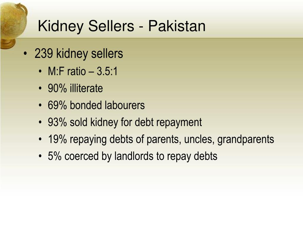 Kidney Sellers - Pakistan