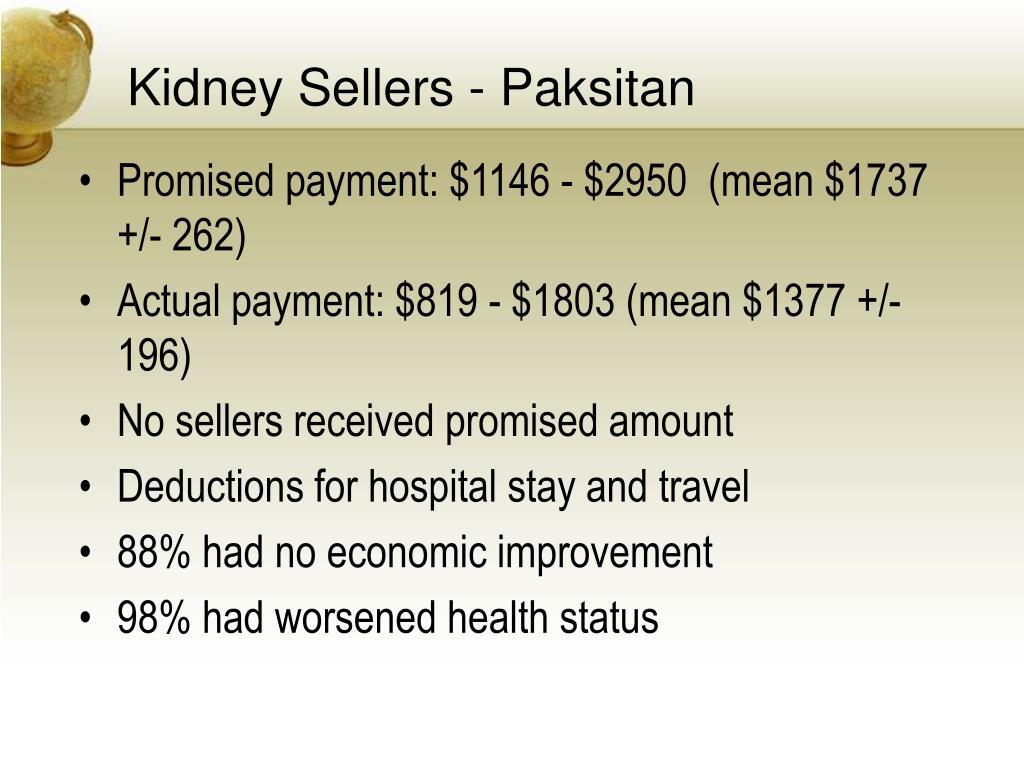 Kidney Sellers - Paksitan