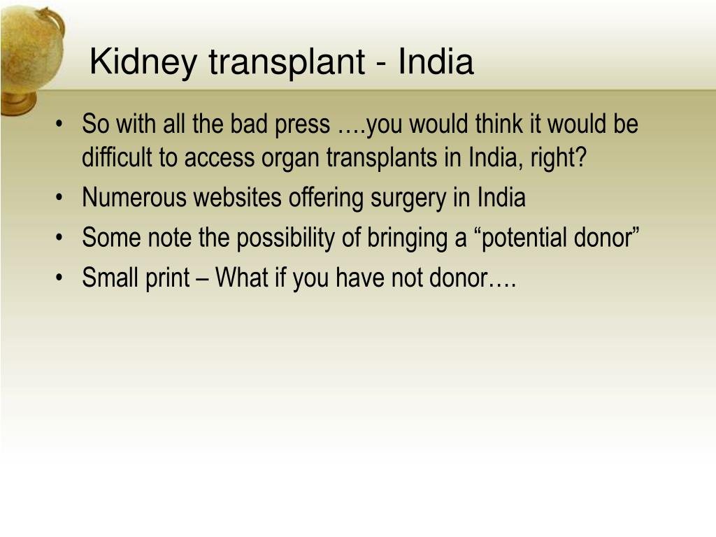Kidney transplant - India