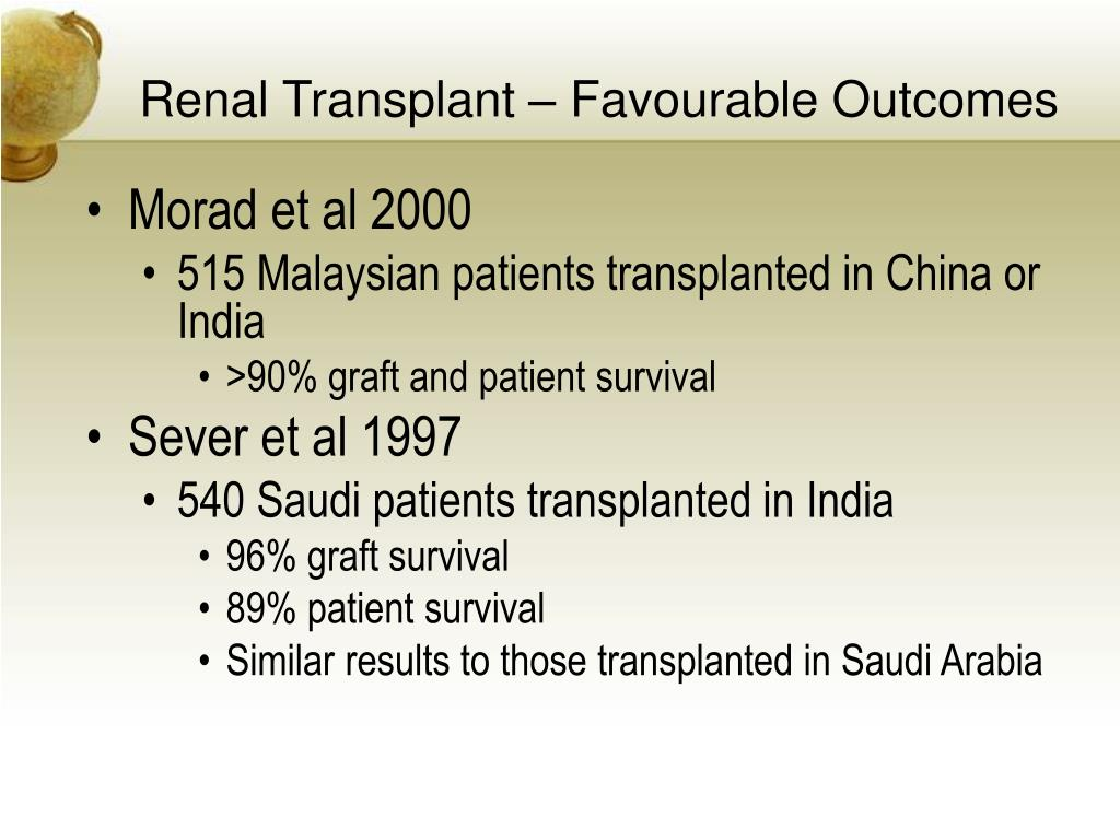 Renal Transplant – Favourable Outcomes