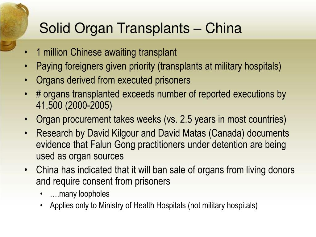 Solid Organ Transplants – China