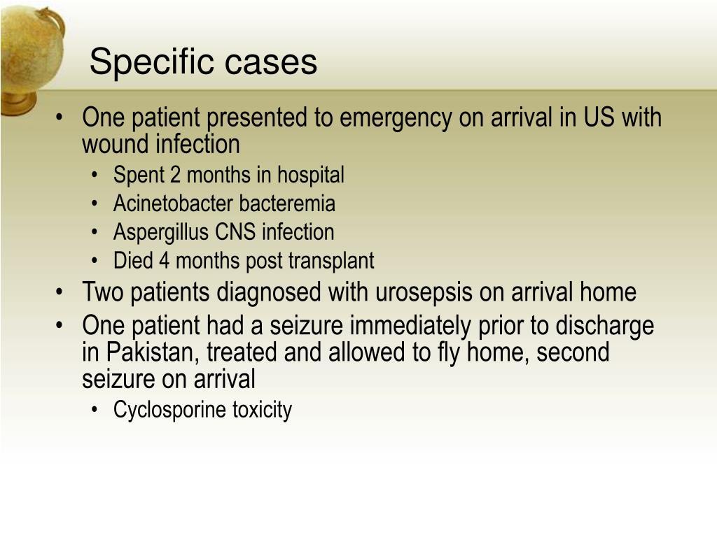 Specific cases