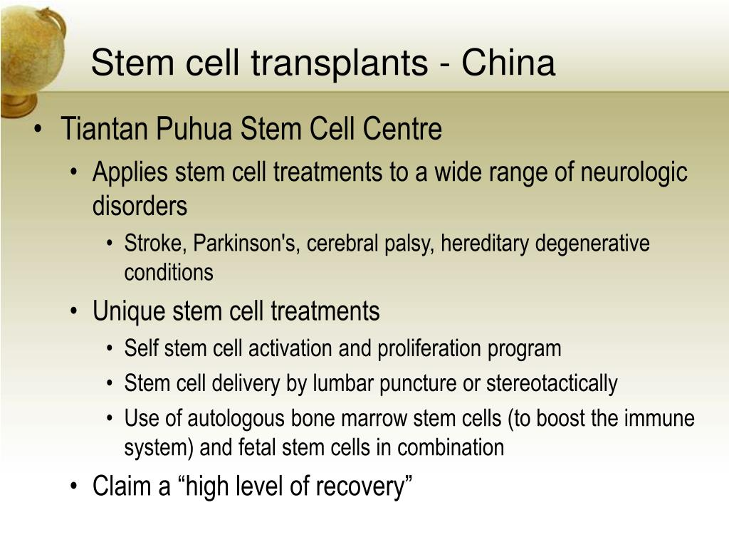 Stem cell transplants - China