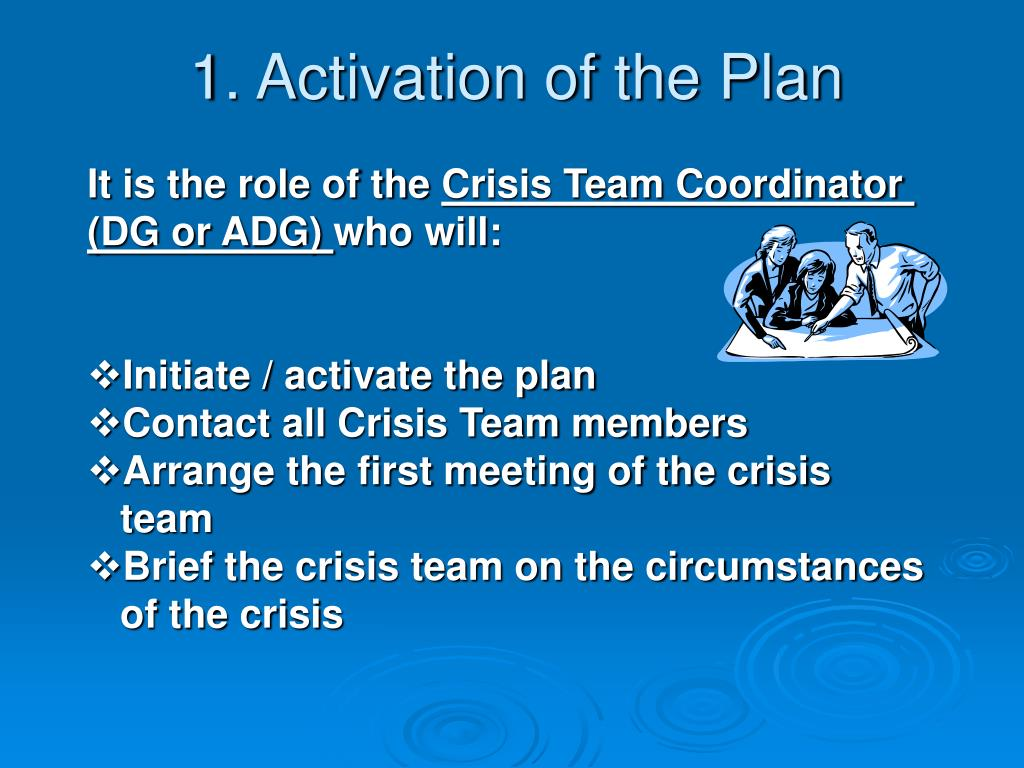 1. Activation of the Plan