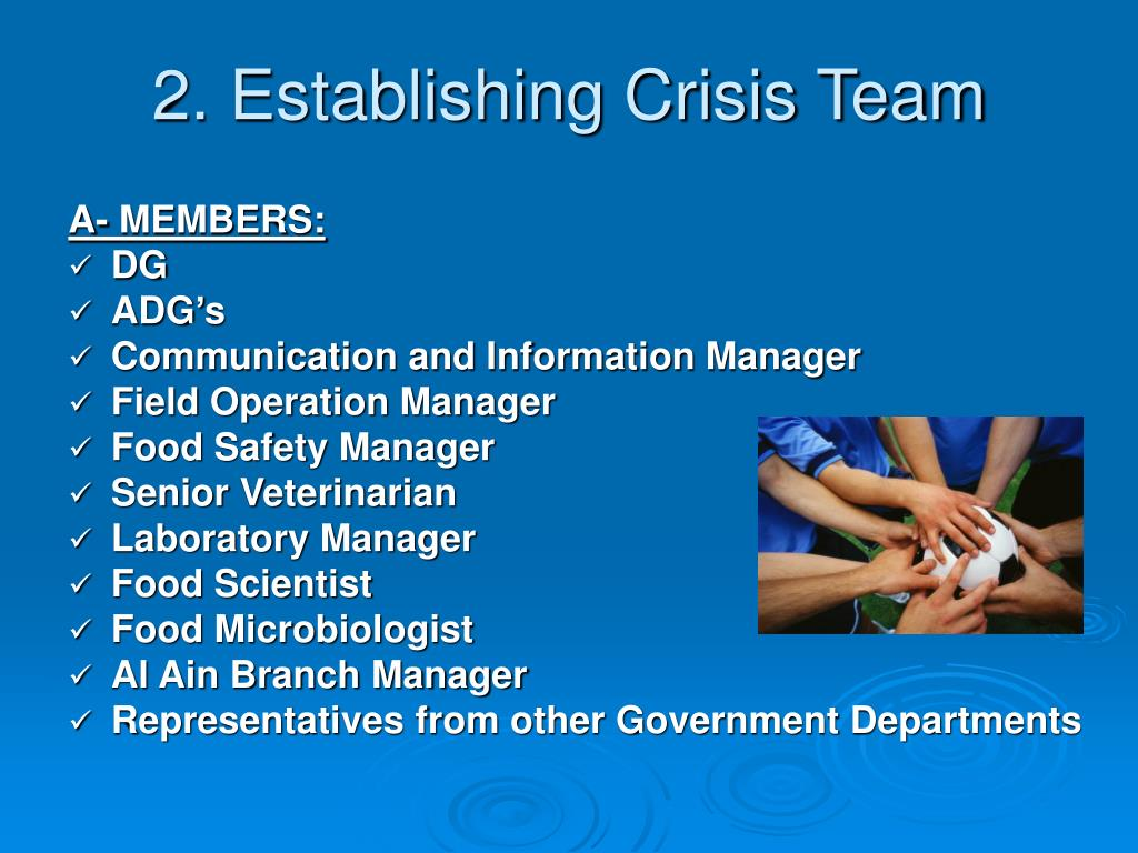 2. Establishing Crisis Team