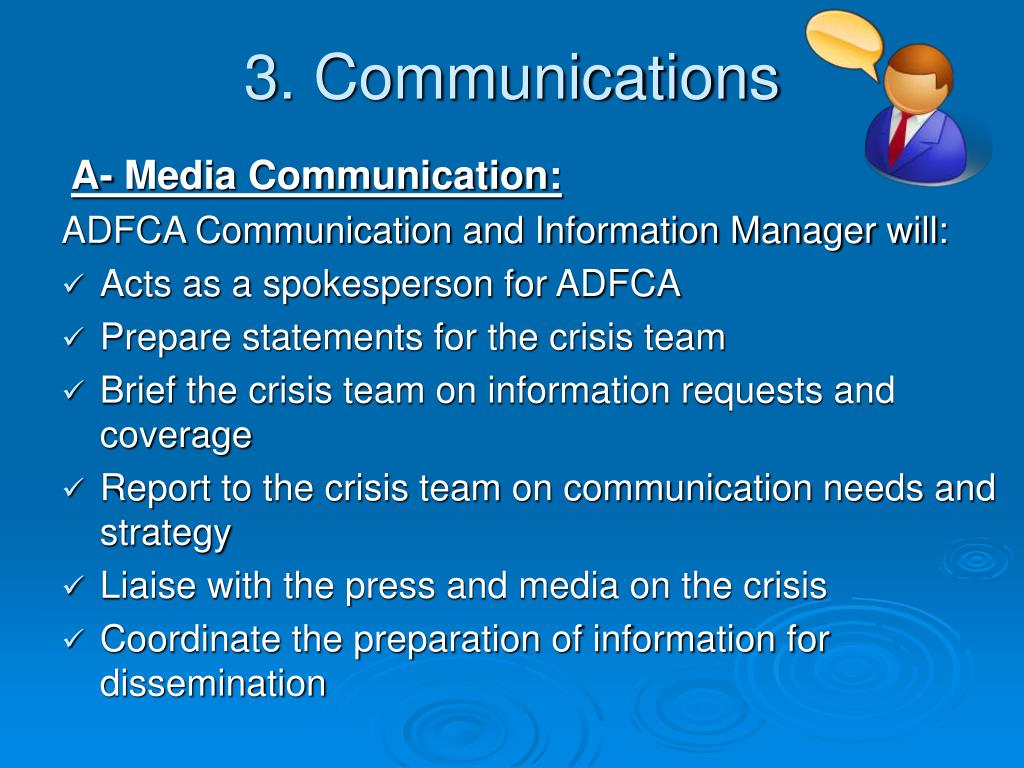 3. Communications