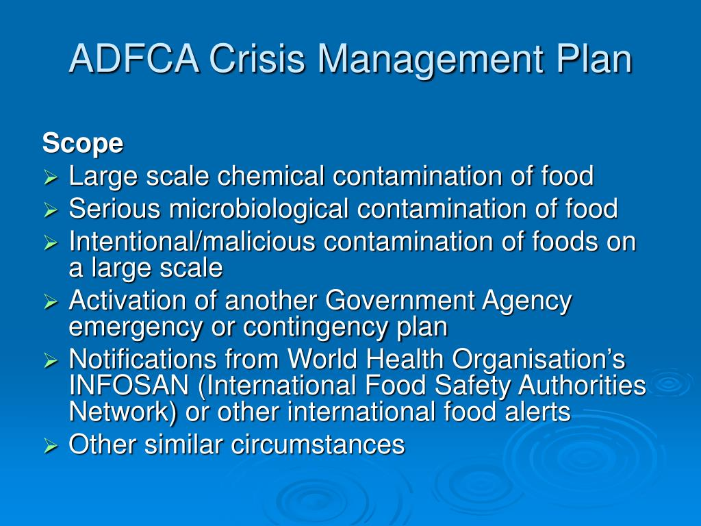 ADFCA Crisis Management Plan