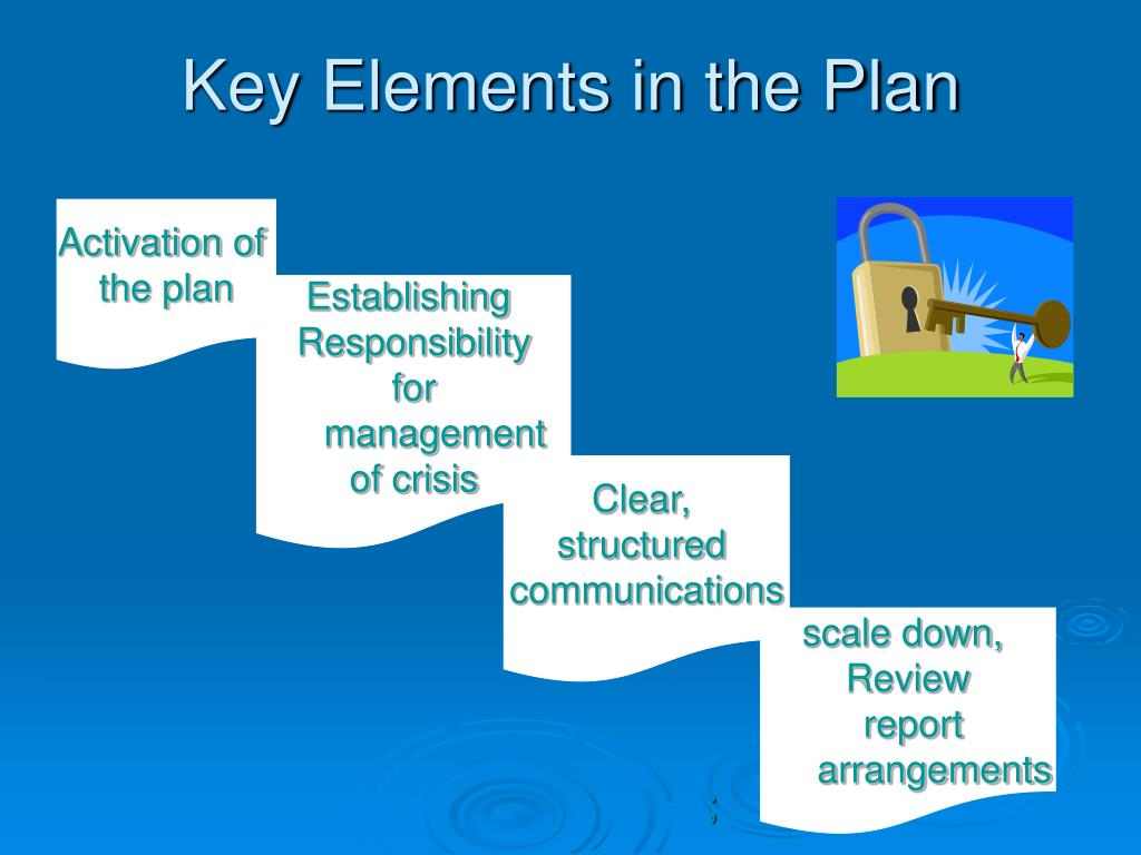 Key Elements in the Plan
