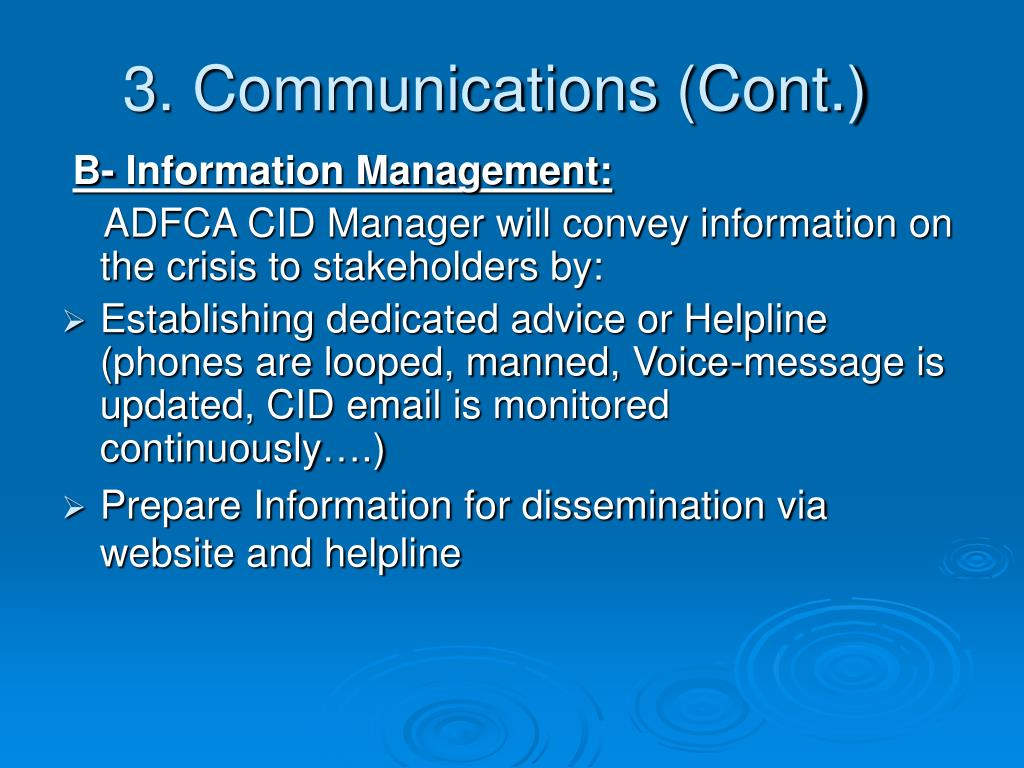 3. Communications (Cont.)