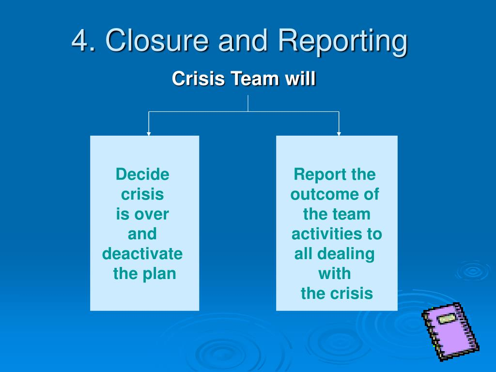 4. Closure and Reporting