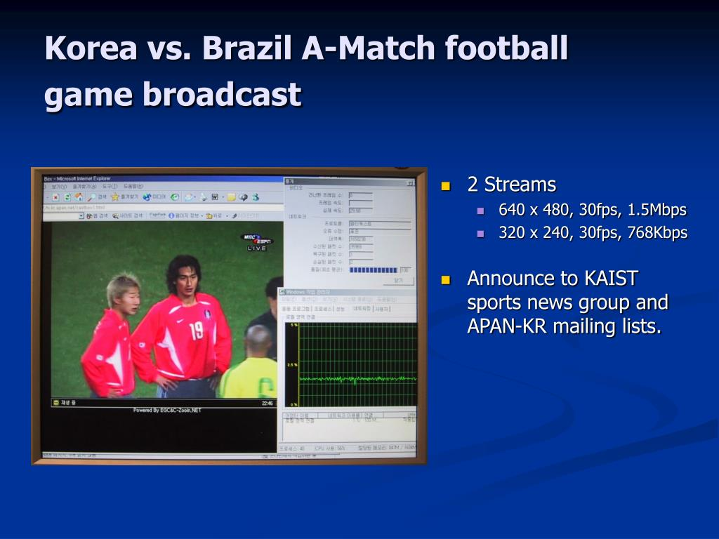 Korea vs. Brazil A-Match football game broadcast