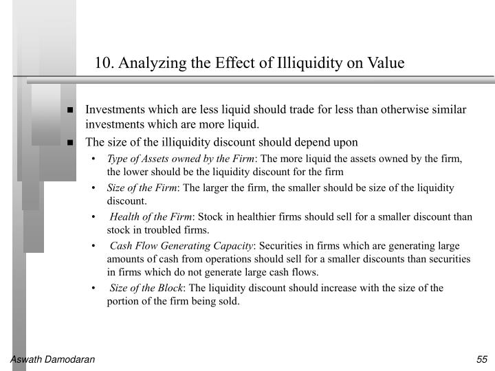 10. Analyzing the Effect of Illiquidity on Value