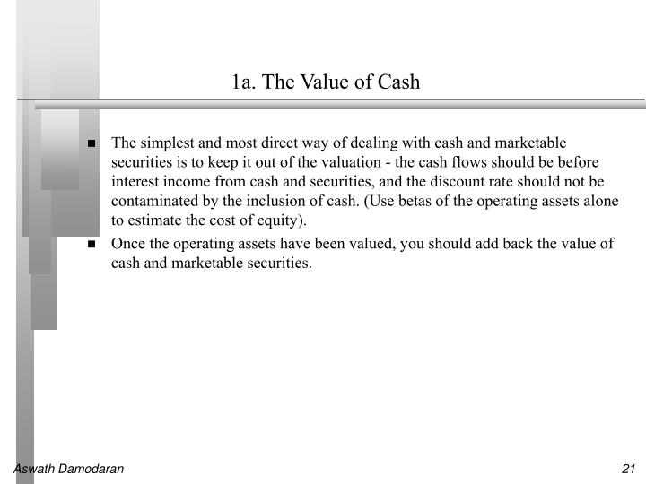 1a. The Value of Cash