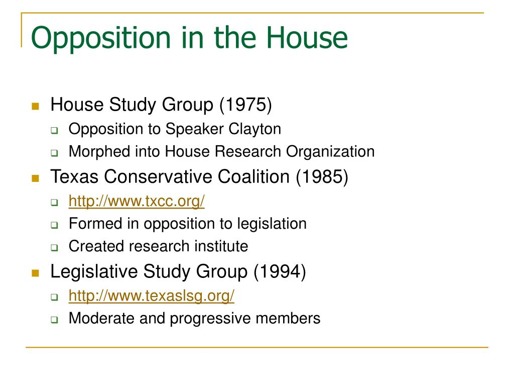 Opposition in the House