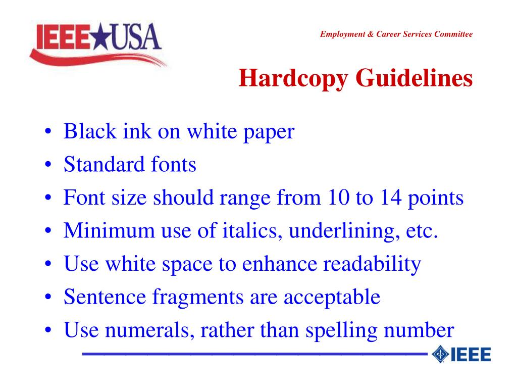 Hardcopy Guidelines