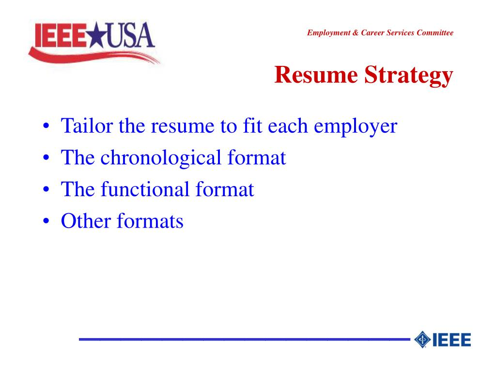 Resume Strategy