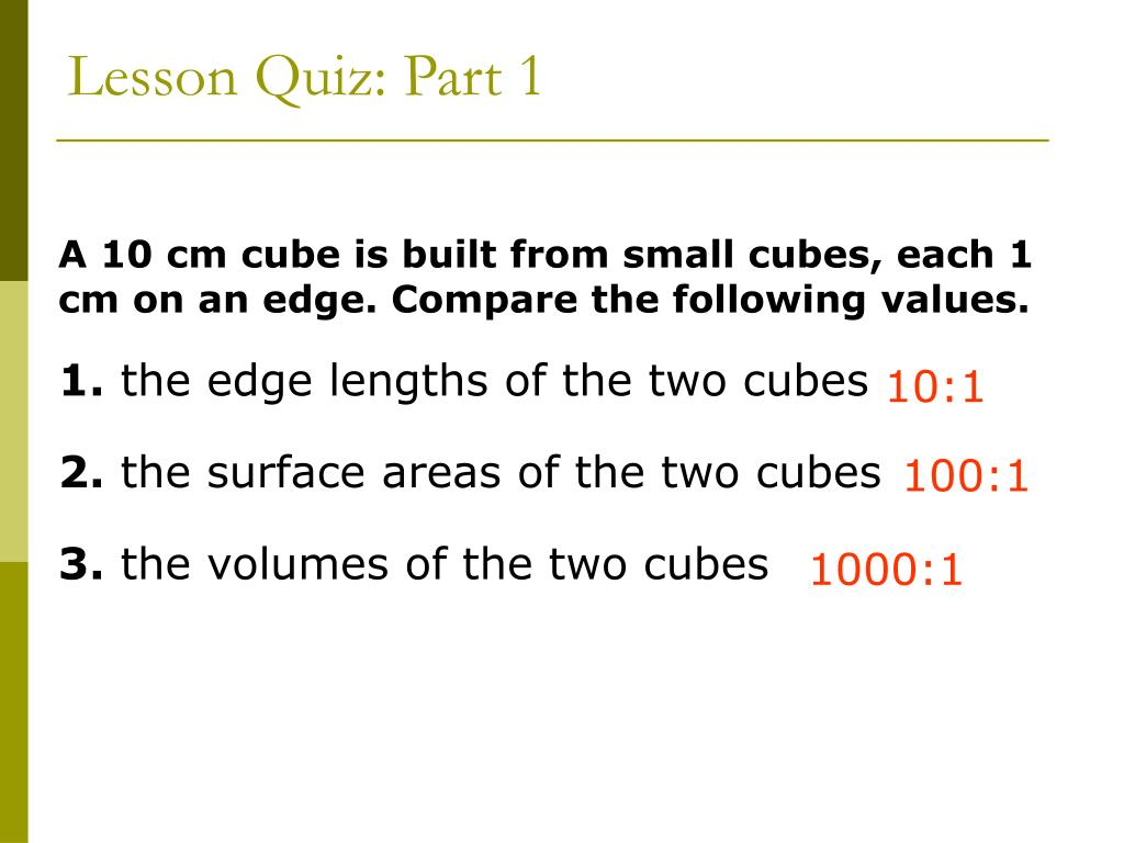 Lesson Quiz: Part 1
