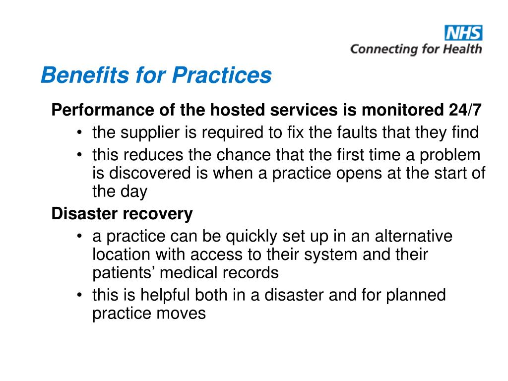 Benefits for Practices
