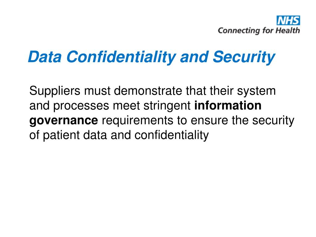 Data Confidentiality and Security