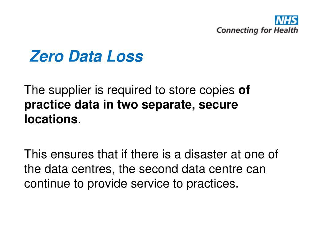 Zero Data Loss
