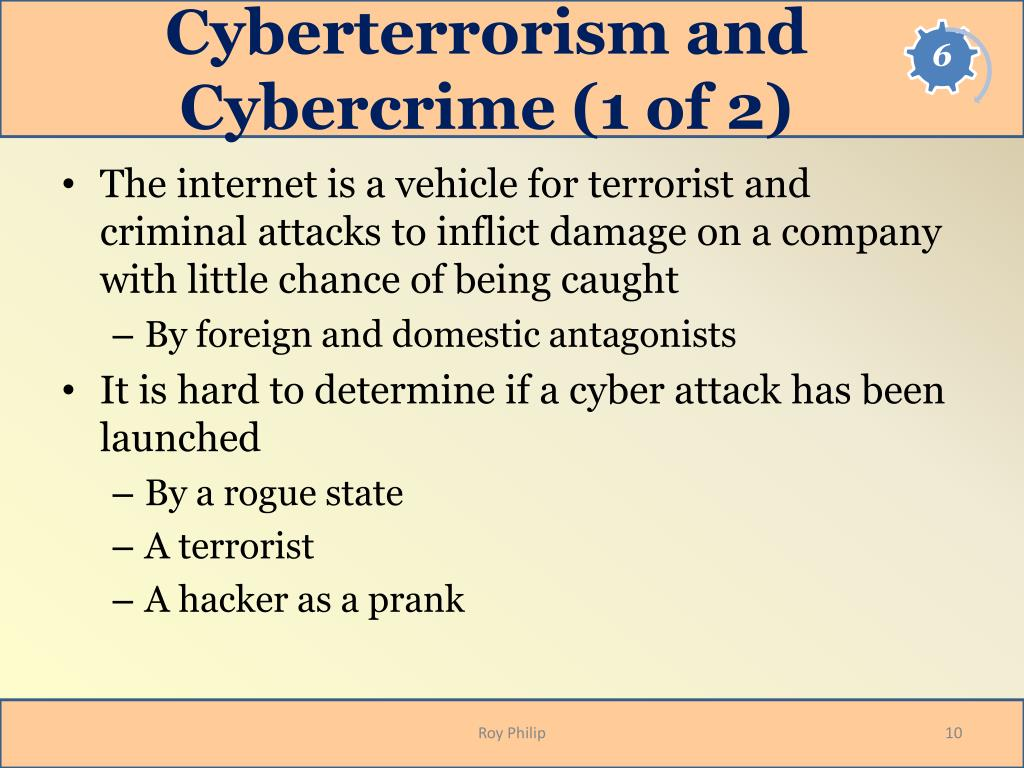 Cyberterrorism and Cybercrime (1 of 2)