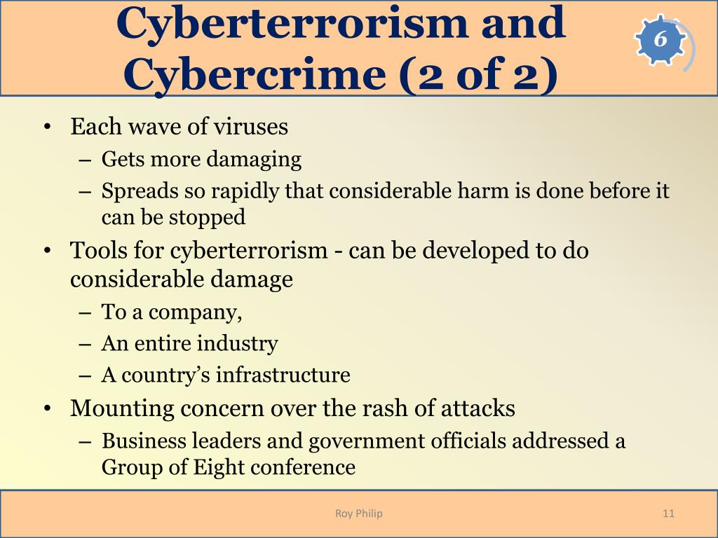 Cyberterrorism and Cybercrime (2 of 2)