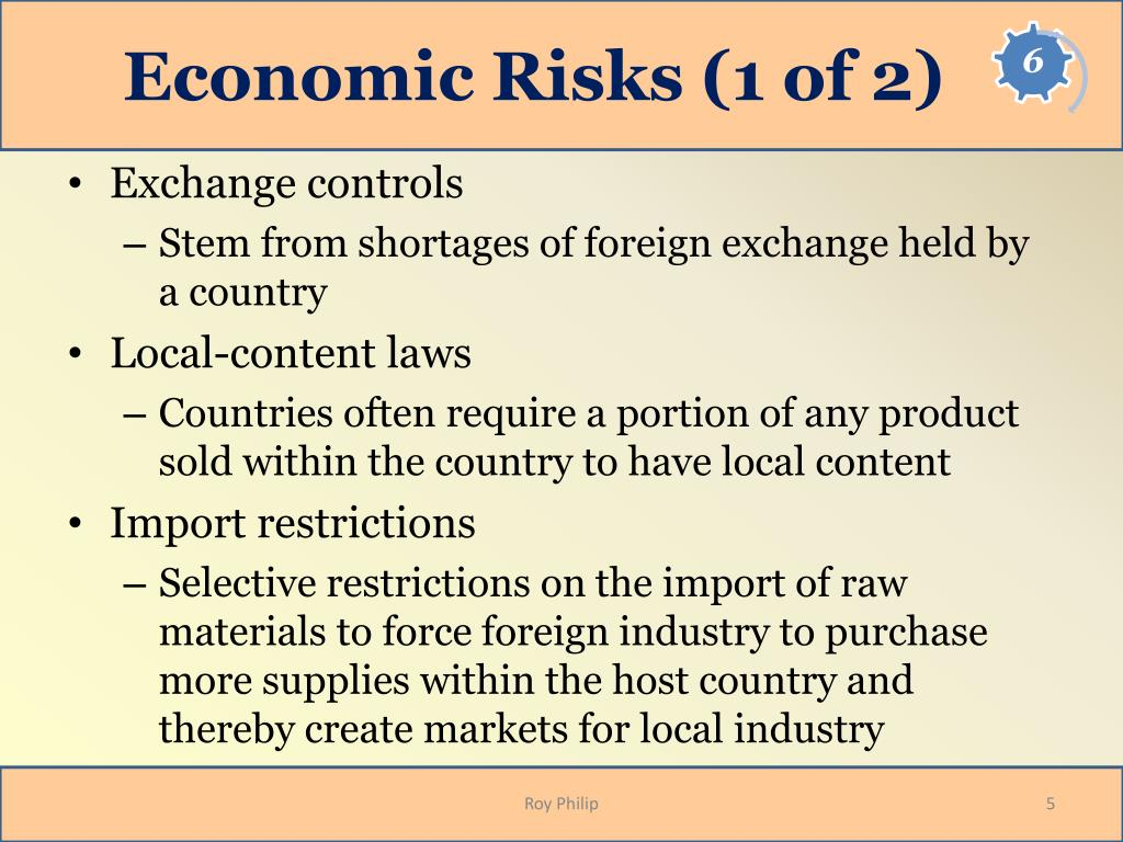 Economic Risks (1 of 2)