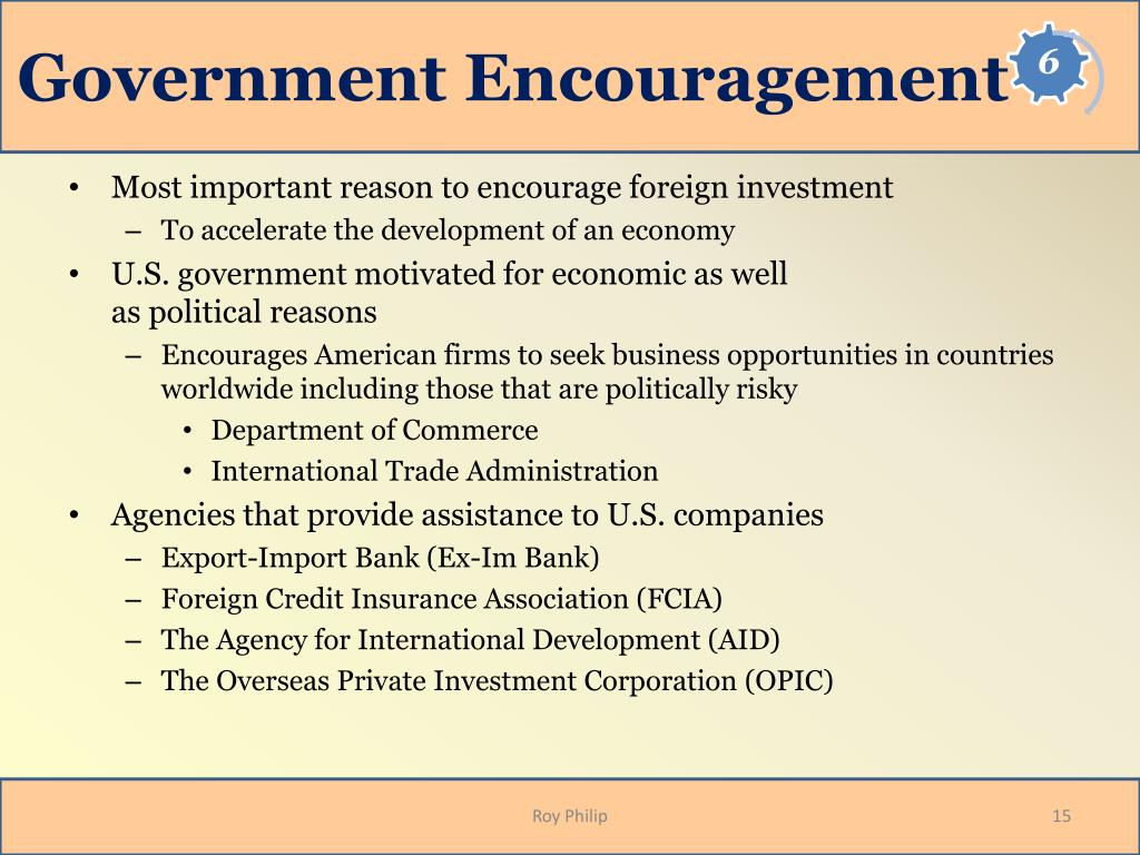 Government Encouragement