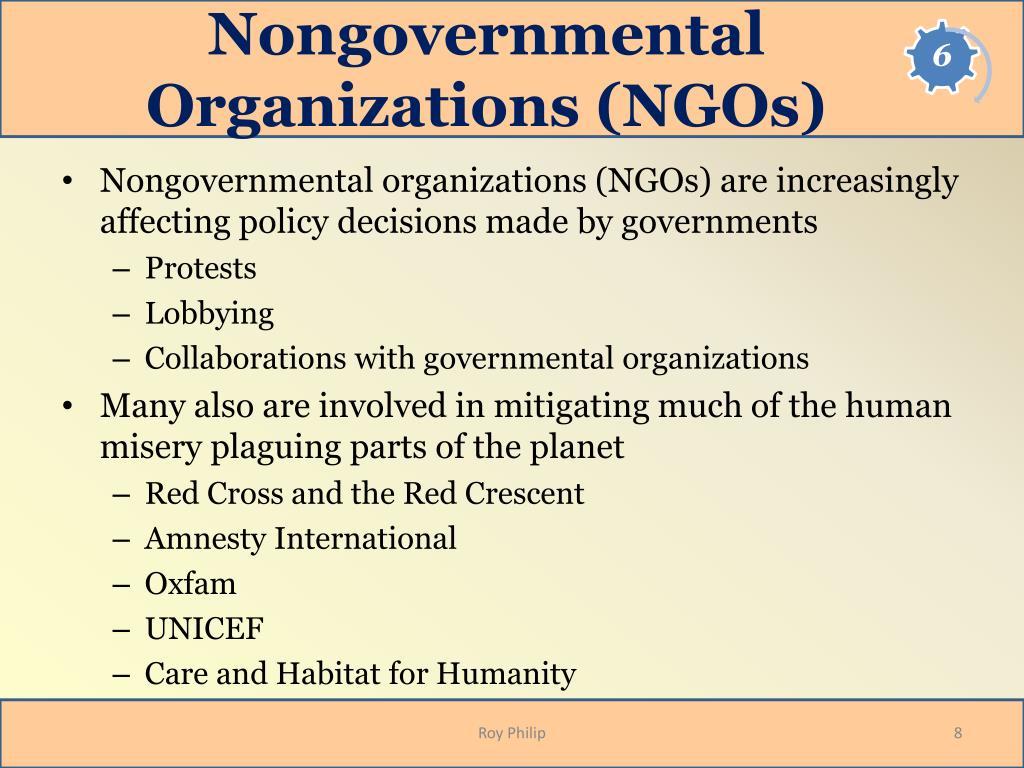 Nongovernmental Organizations (NGOs)