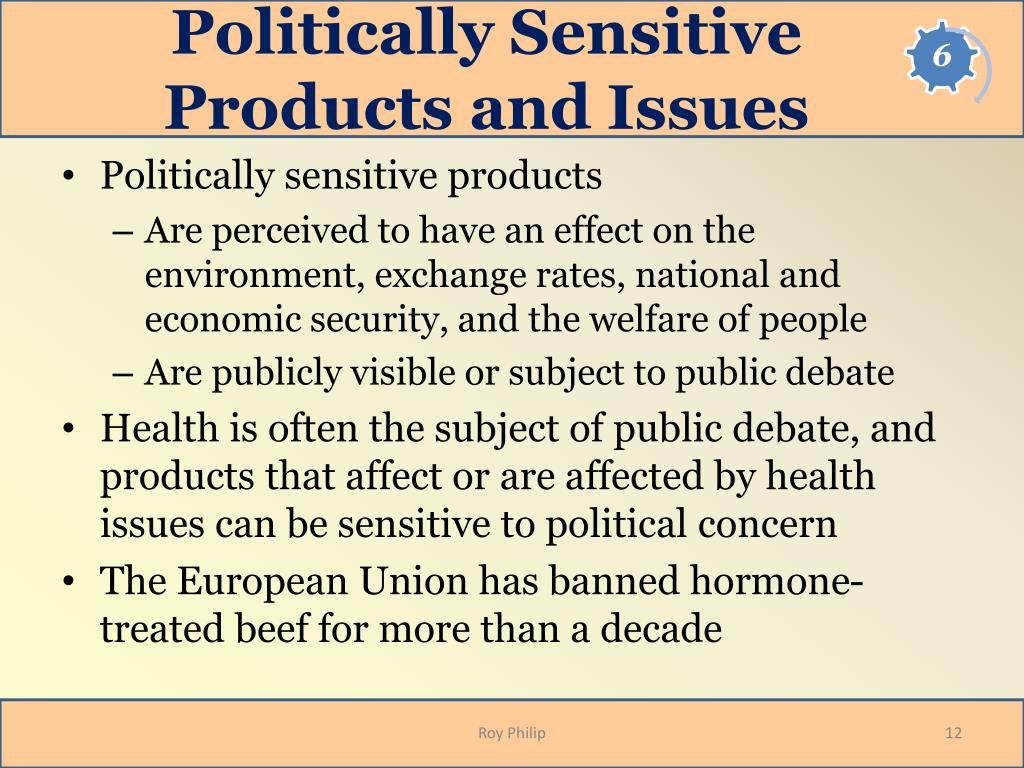 Politically Sensitive