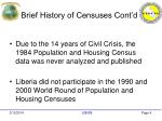 brief history of censuses cont d