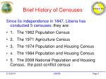 brief history of censuses