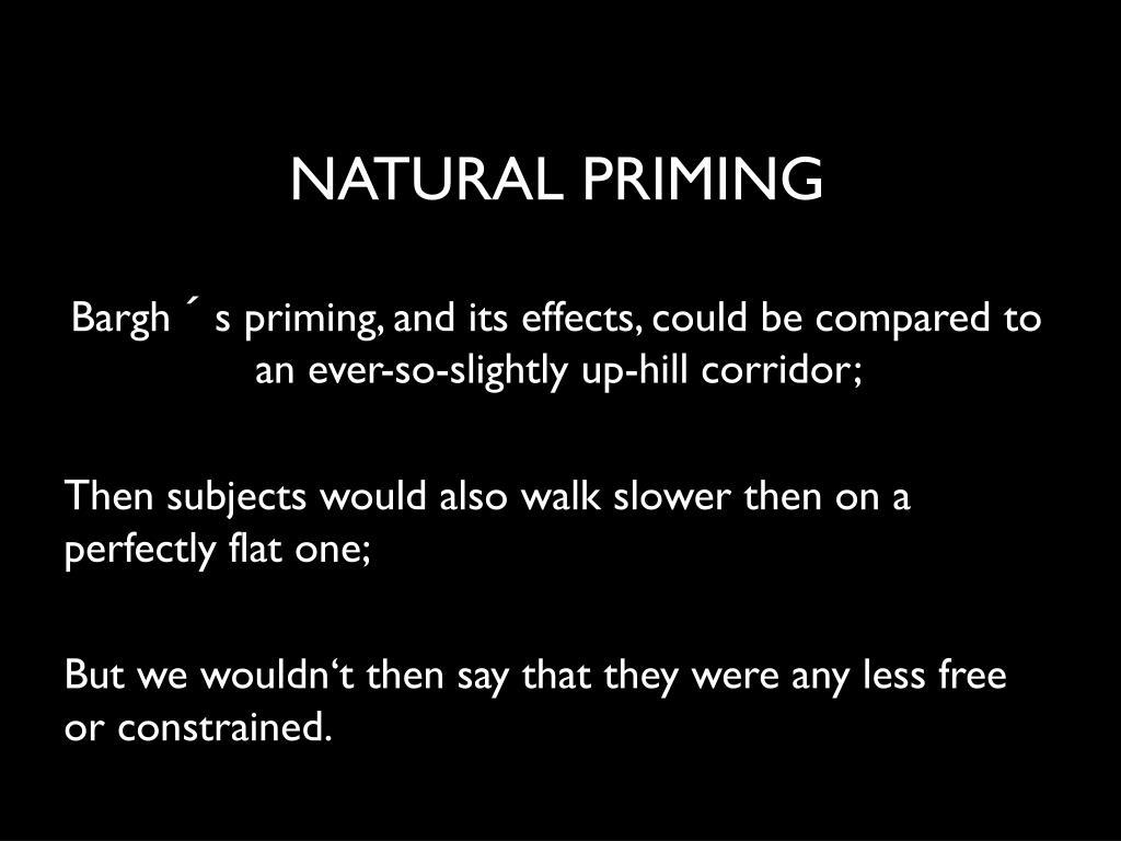 NATURAL PRIMING