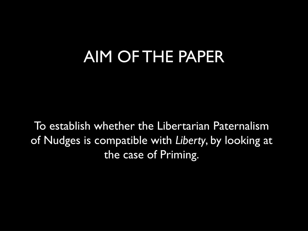 AIM OF THE PAPER