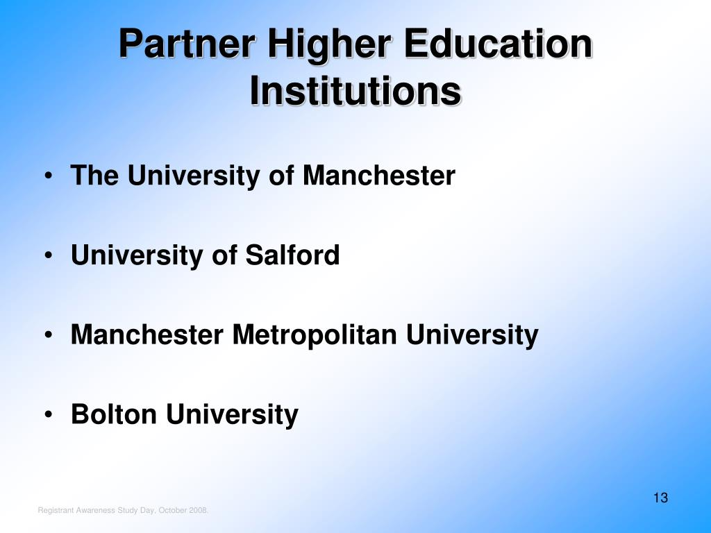 Partner Higher Education Institutions