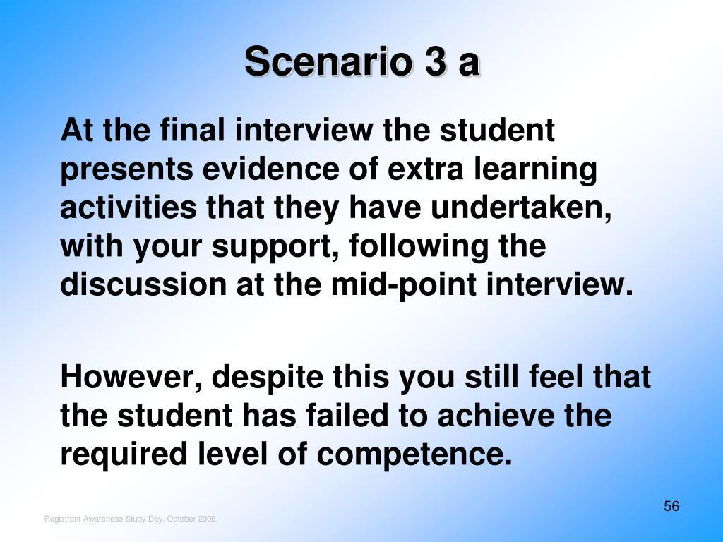 Scenario 3 a