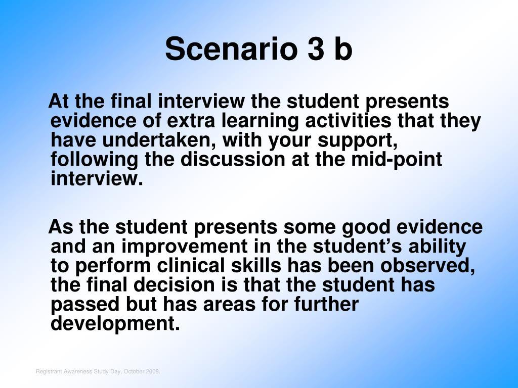 Scenario 3 b