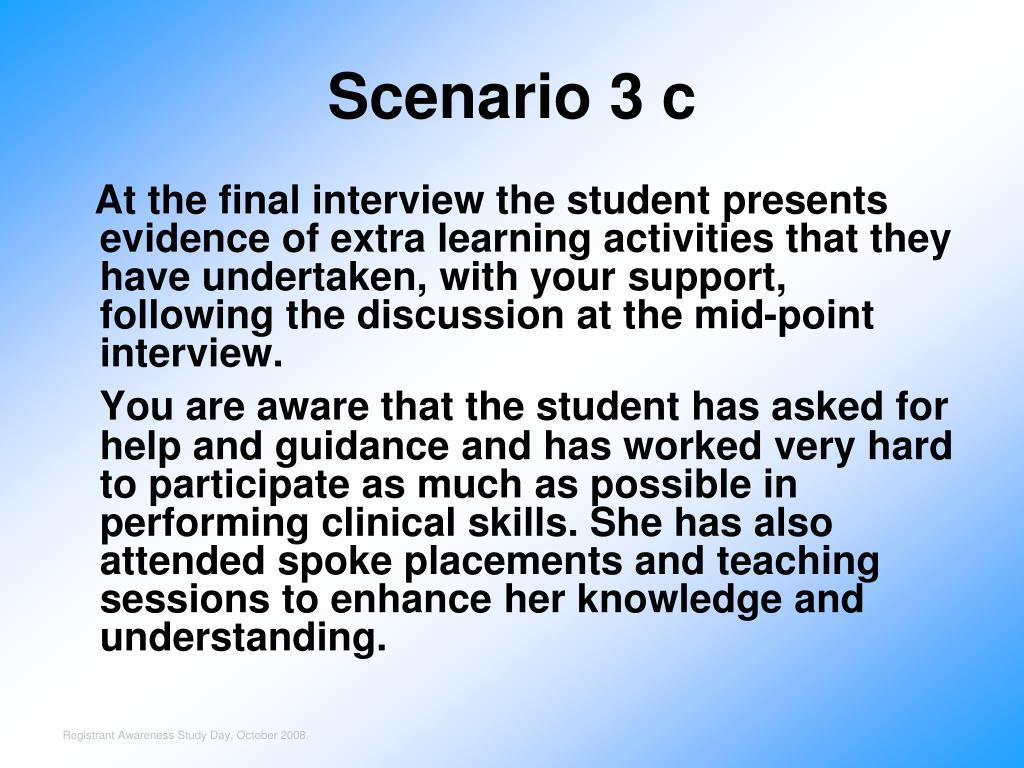 Scenario 3 c