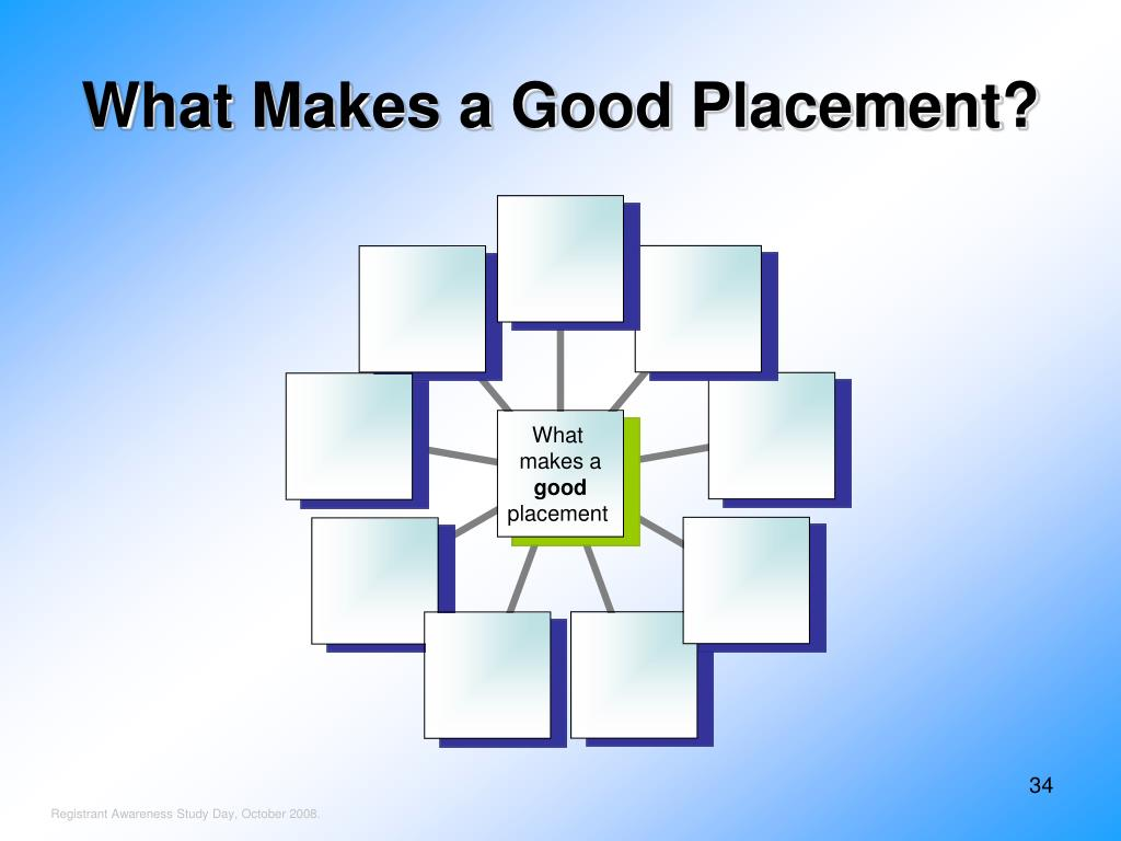What Makes a Good Placement?