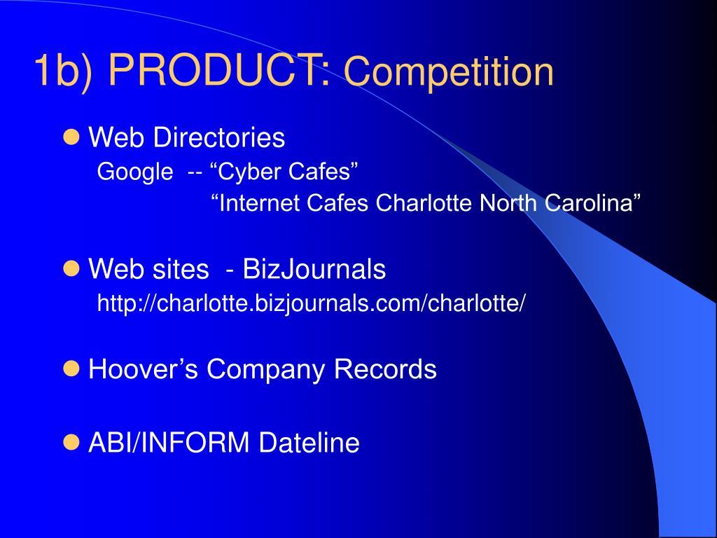 1b) PRODUCT:
