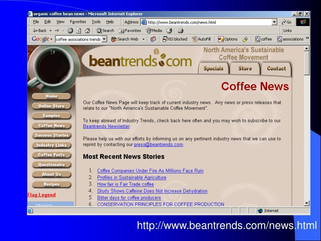 http://www.beantrends.com/news.html